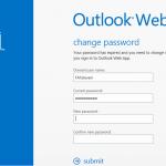 OWA Change Password