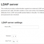 LDAP Server Settings in Moodle
